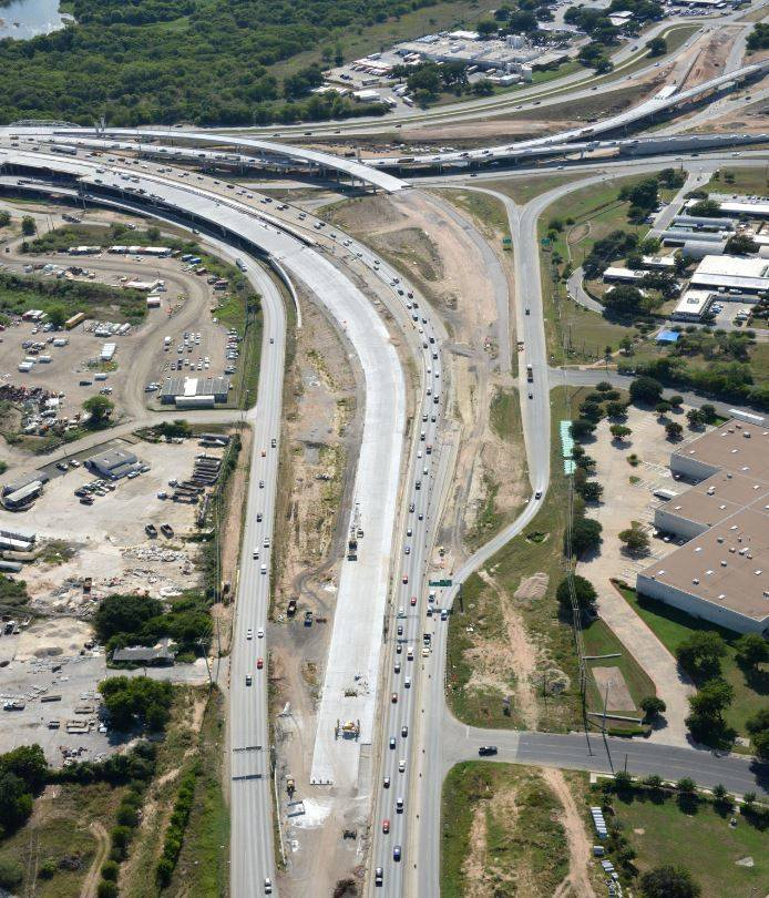 Aerial view Airport Blvd Interchange