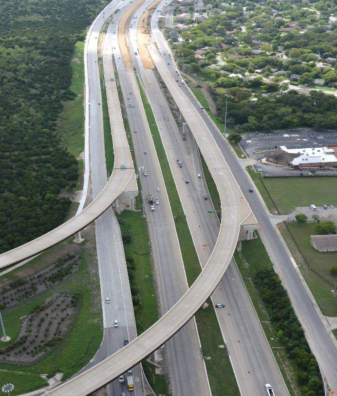 Aerial view of US 290
