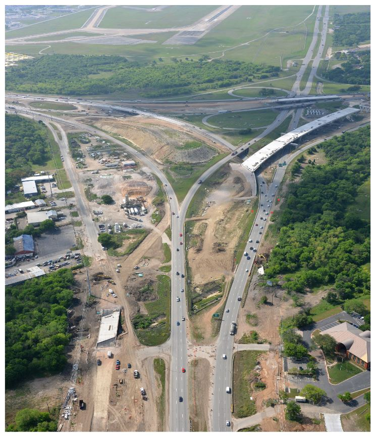 Aerial view of SH 71