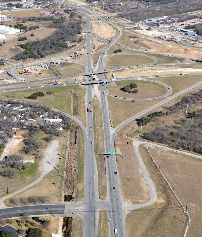 Aerial view of US 183 @ SH 71