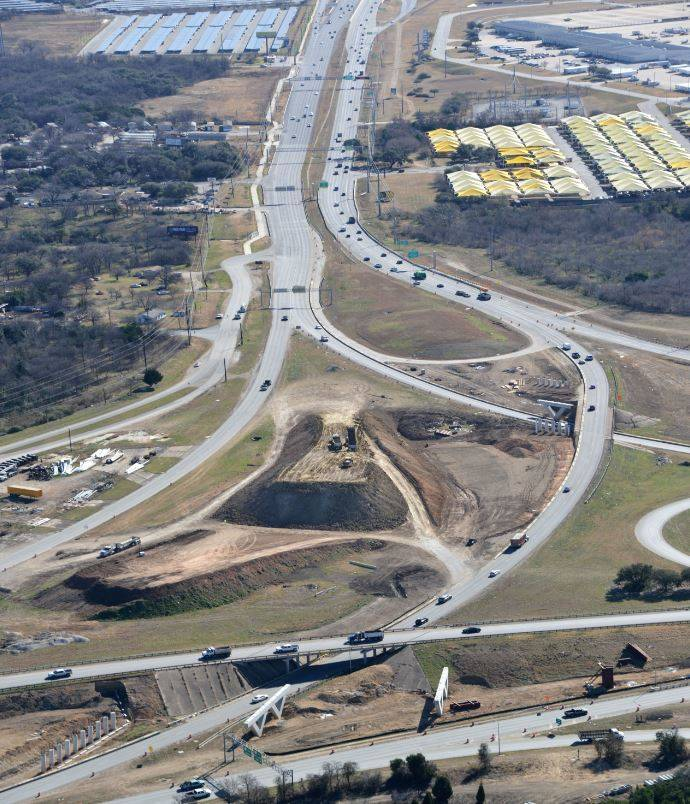 Aerial view of SH 71 @ US 183