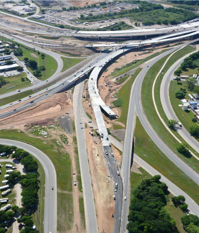 Aerial view of the Airport Blvd. Interchange