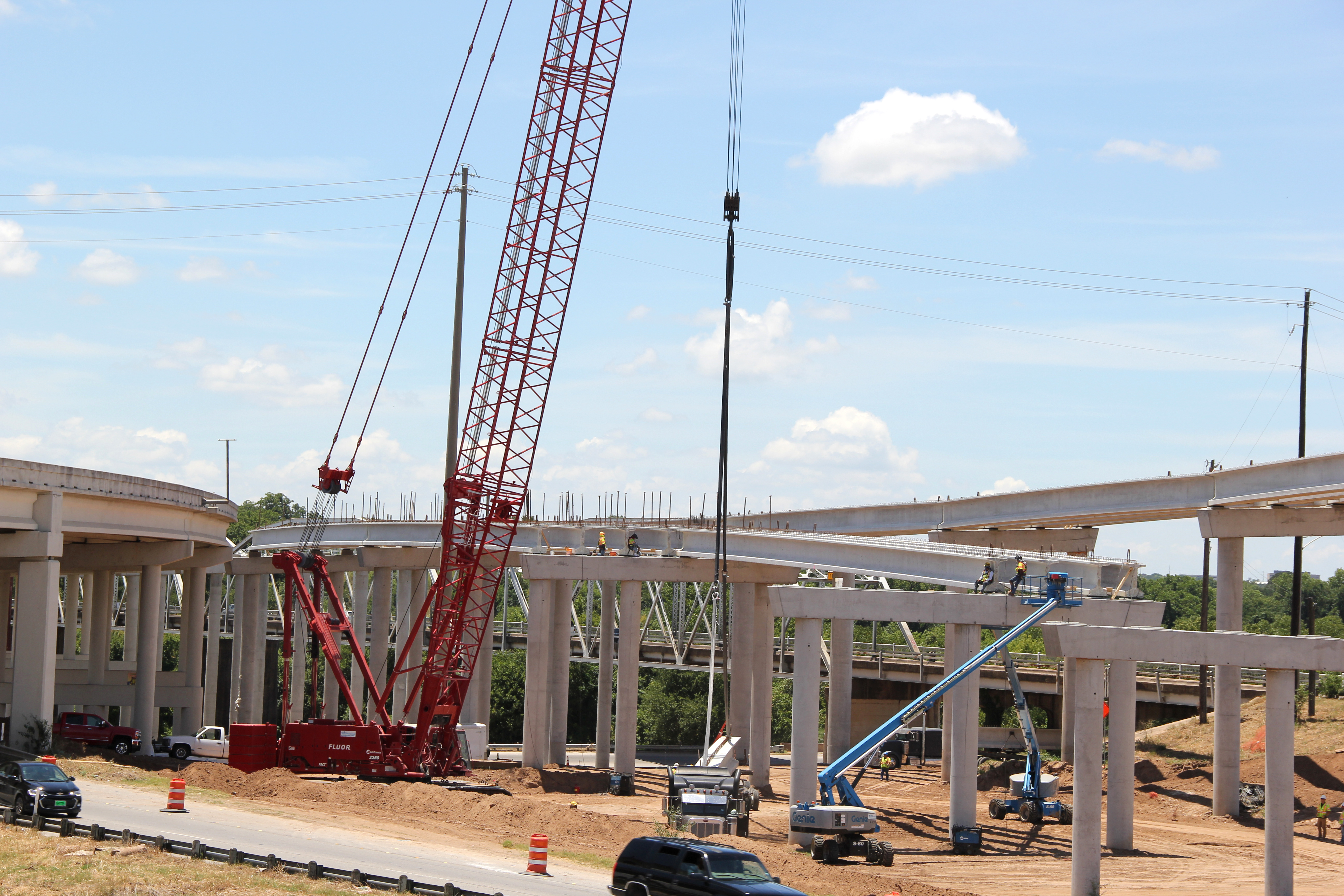 Building Entrance Ramp to Southbound Bridge over Colorado River