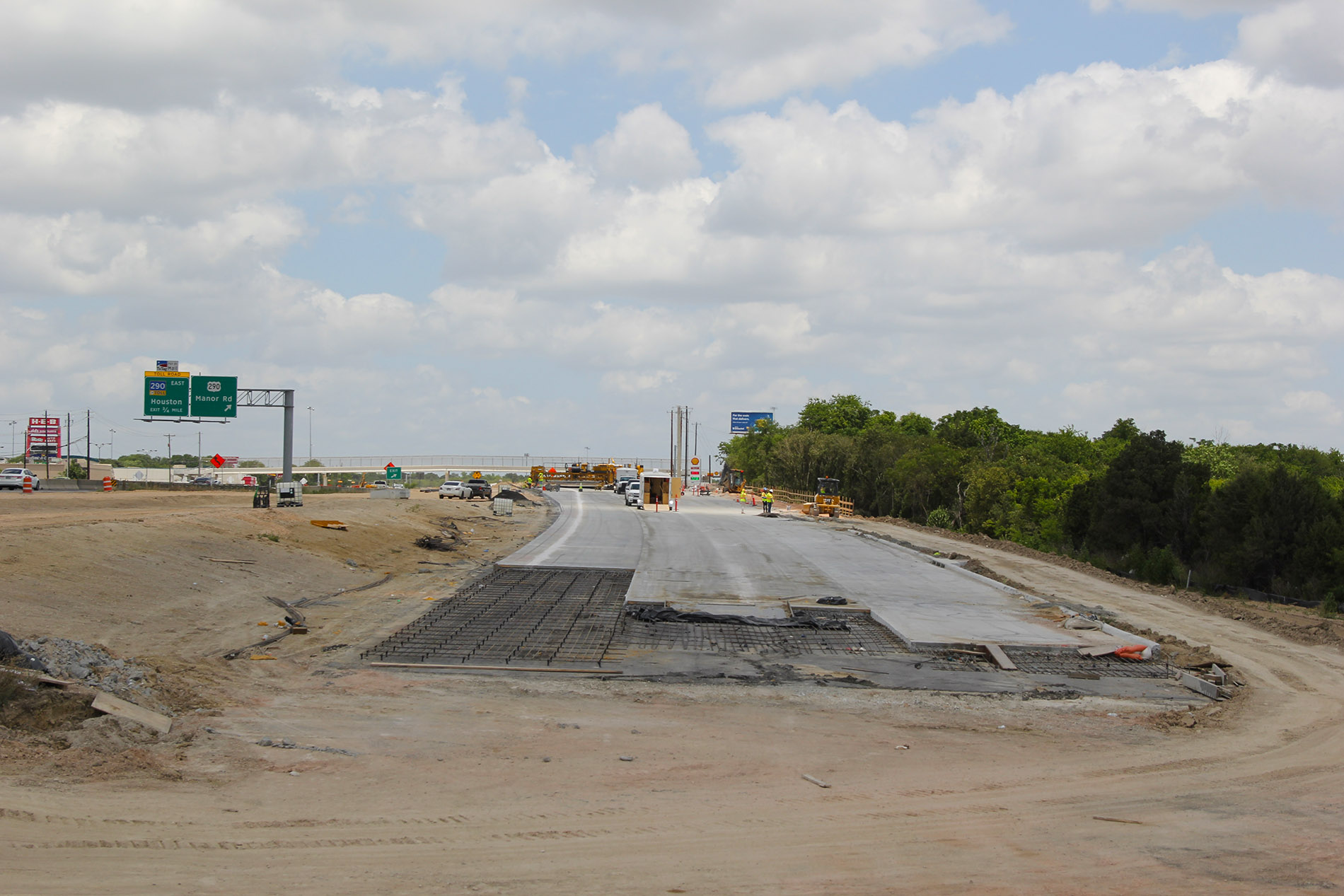 Concrete Paving of Northbound General Purpose Lanes near Purple Sage Drive