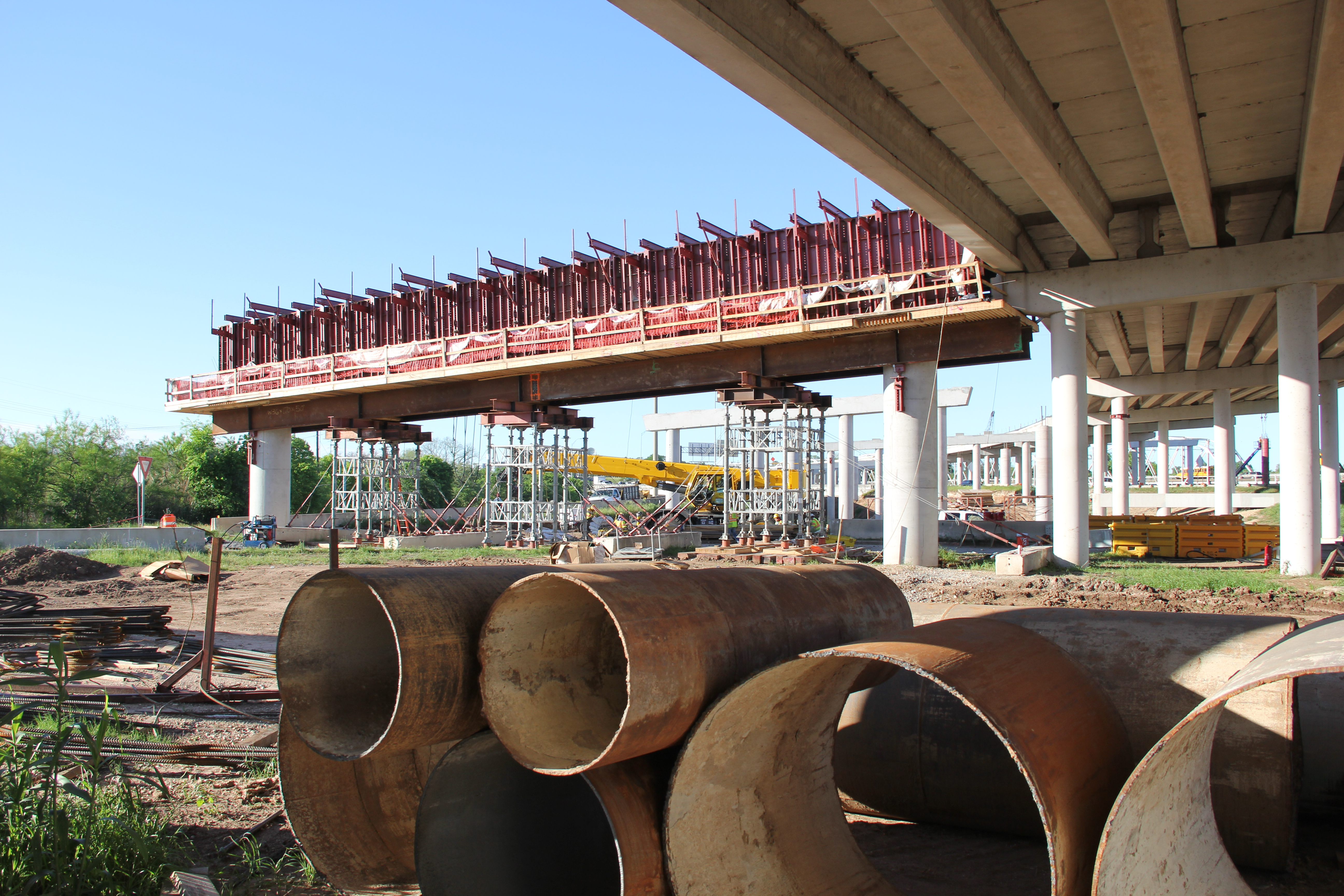 Bridge Cap Construction Over Levander Loop