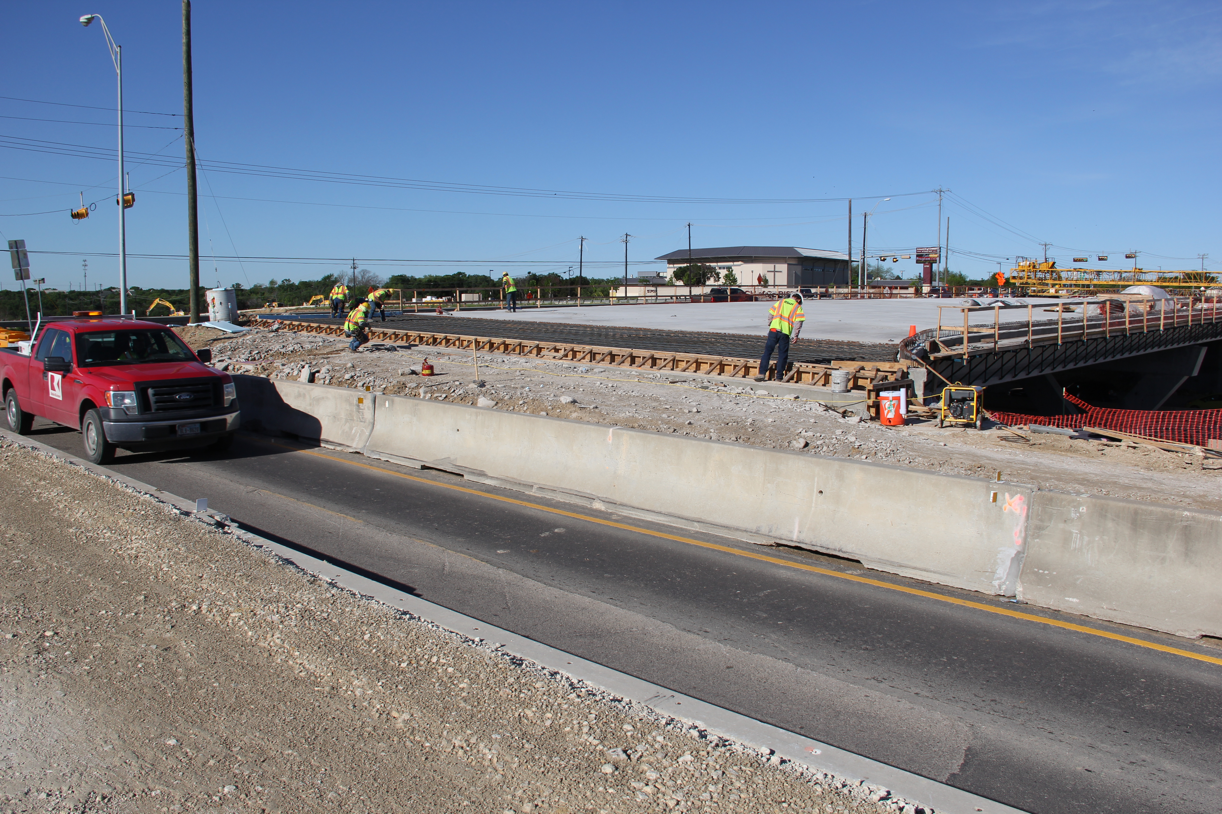 New Bridge over US 183 at FM 969/MLK Blvd