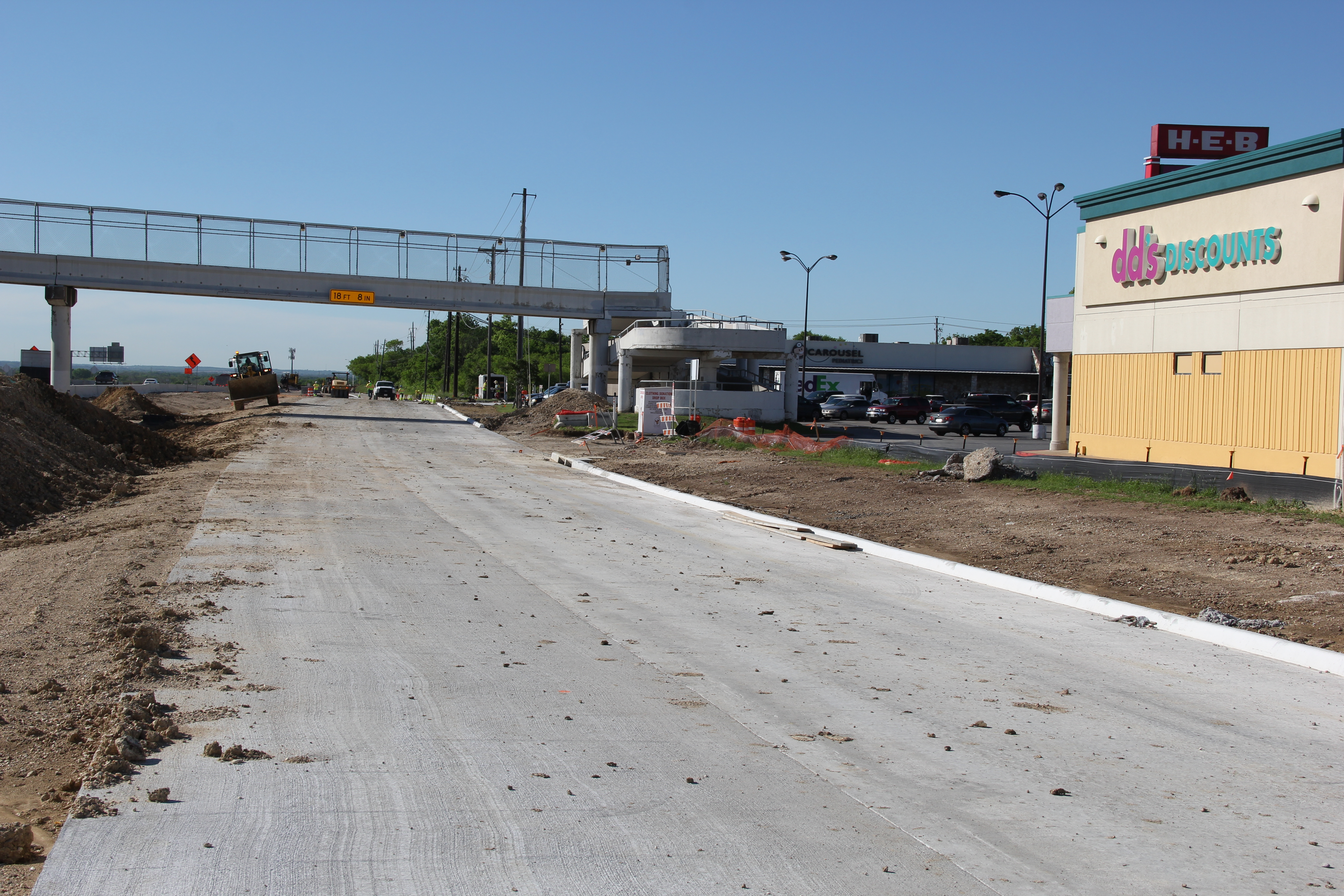 Southbound General Purpose Lane Construction South of Springdale Road