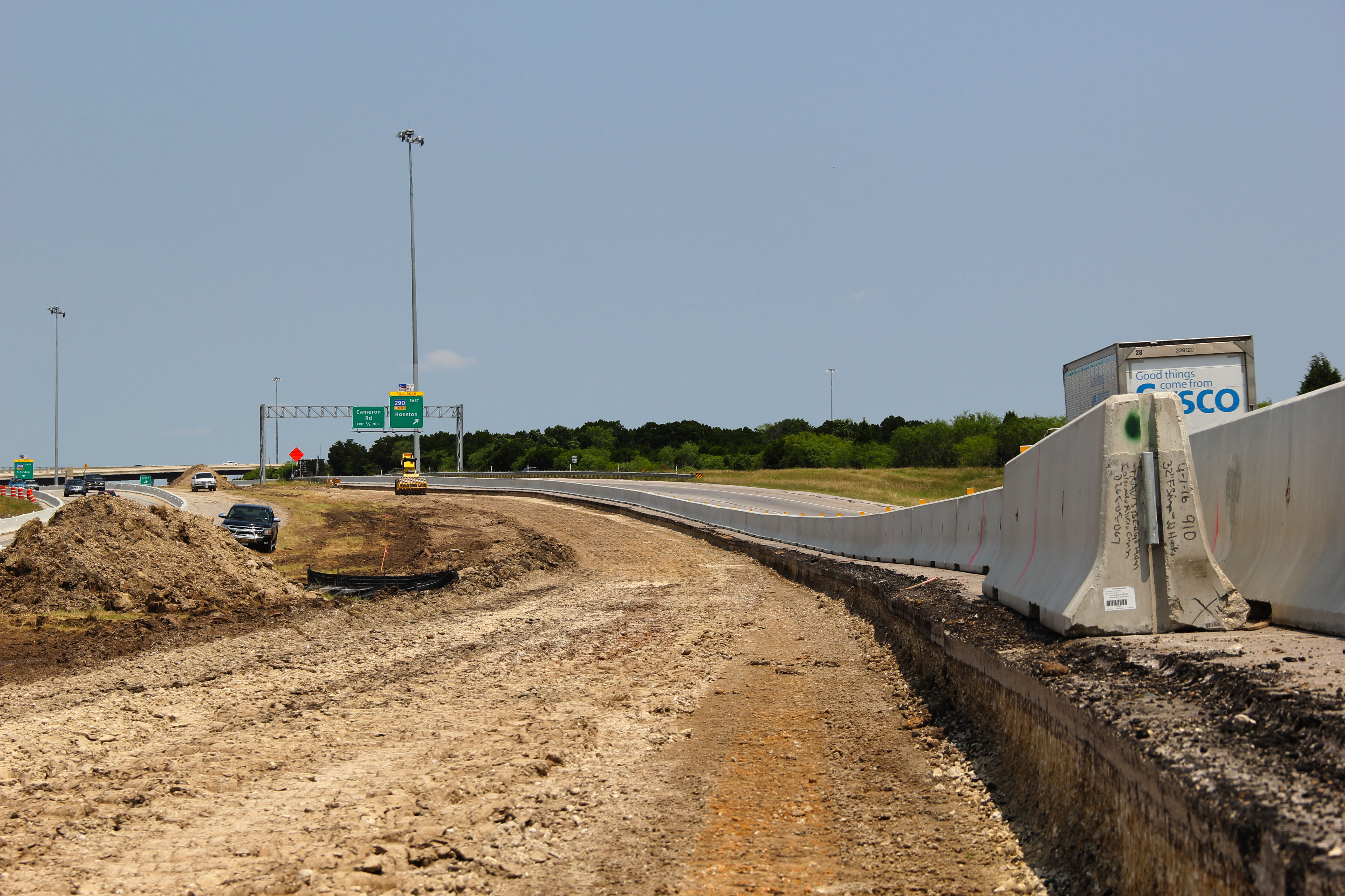 Expressway widening at Springdale/Manor Road