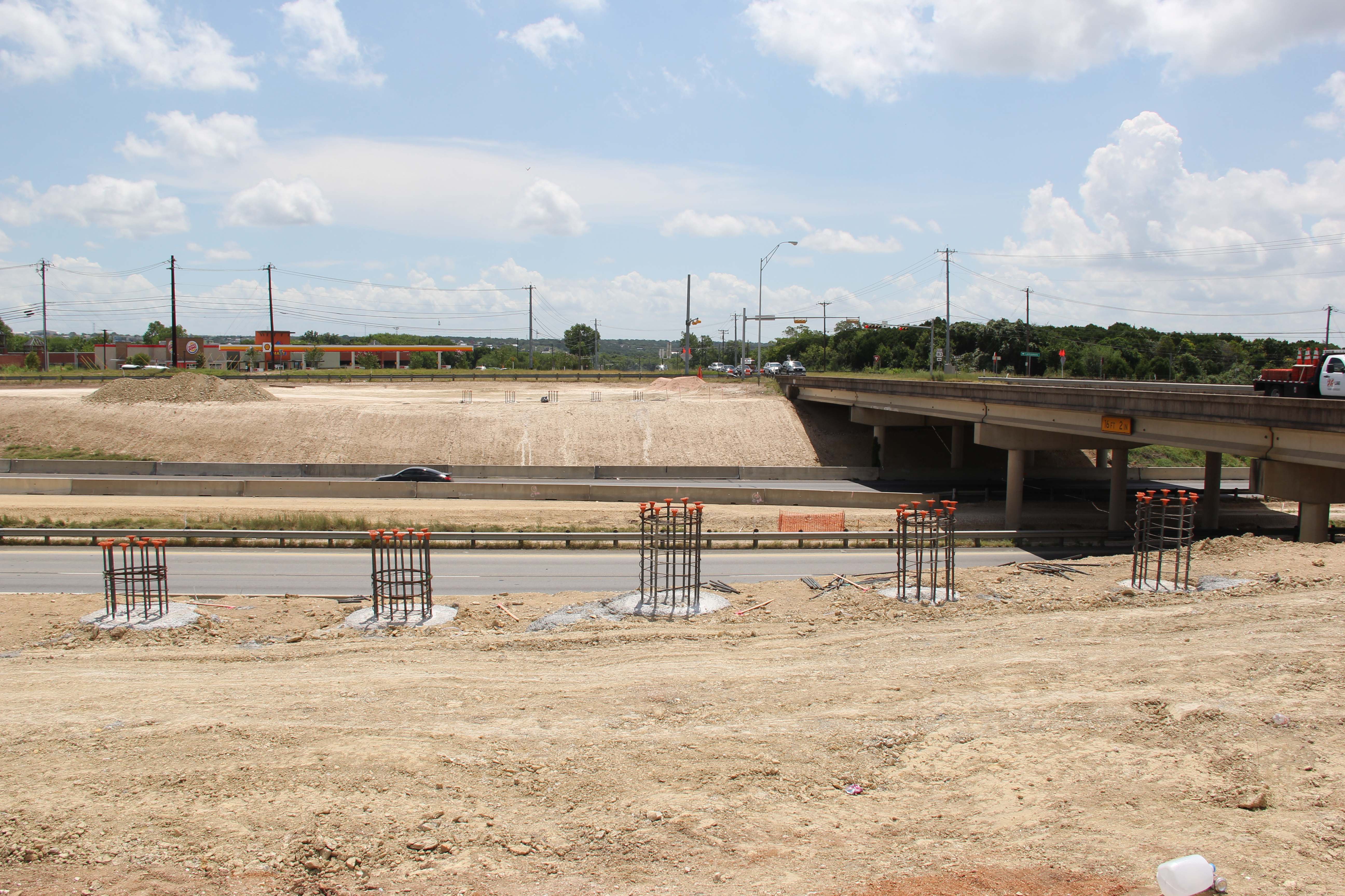 Bridge foundations for new MLK Blvd crossing