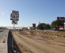 Southbound General Purpose Lane Construction at Springdale Shopping Center