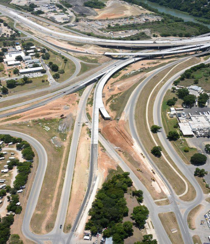 Aerial view of Airport Boulevard Interchange