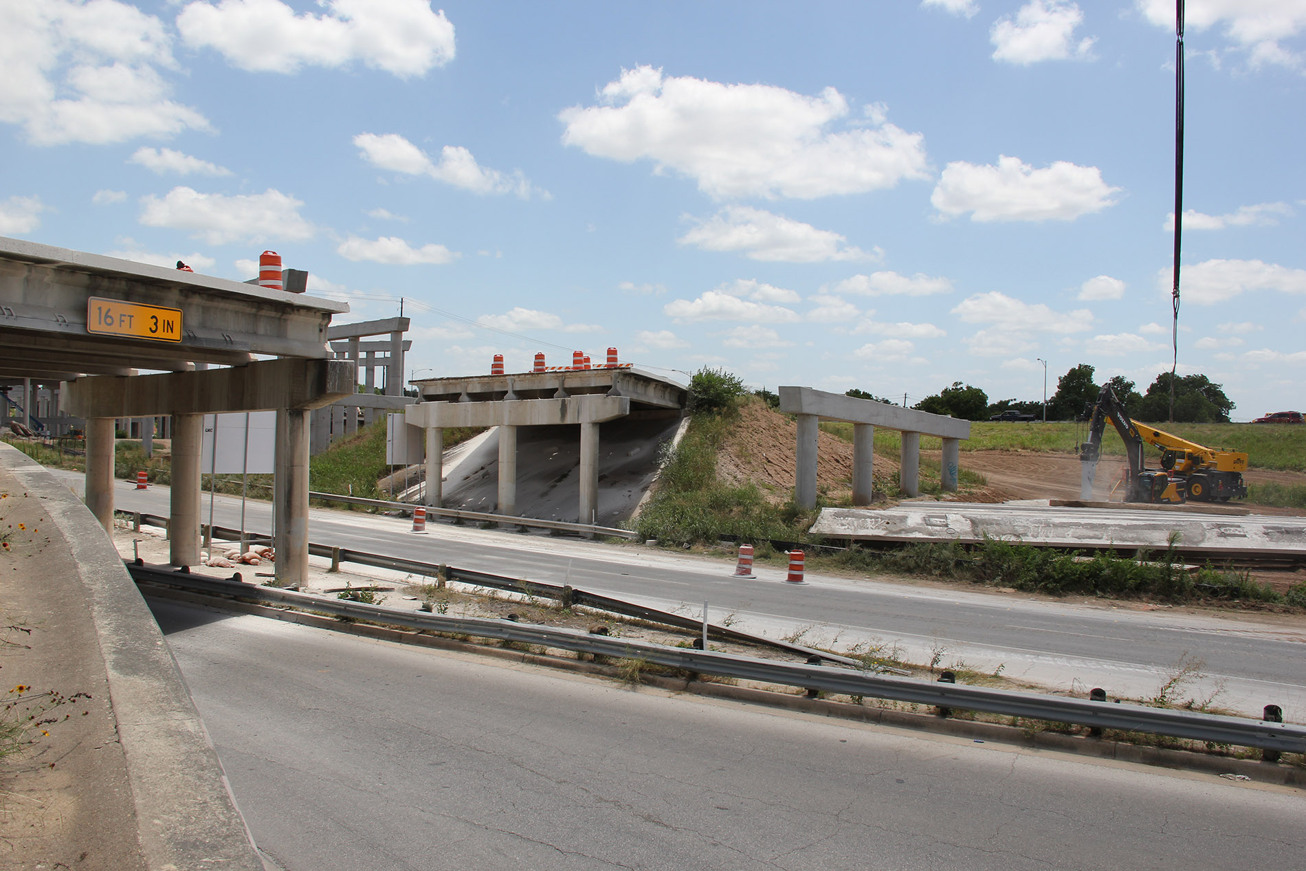 Demolition of Southbound Montopolis Drive Exit Bridge Over Airport Boulevard
