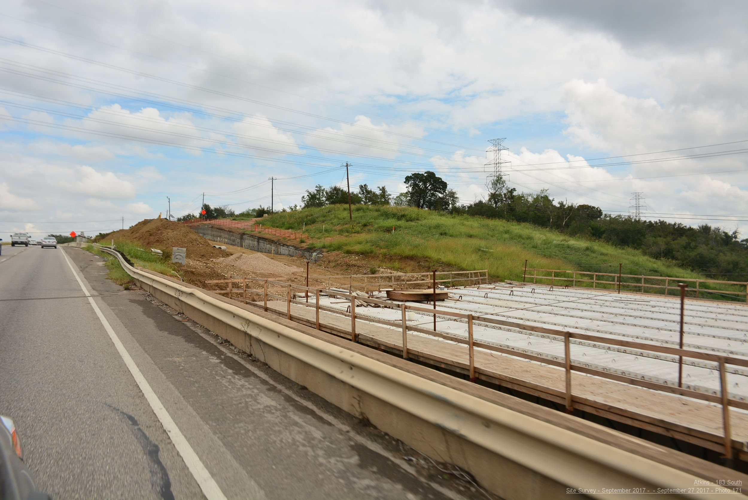 Bridge deck panel installation near Boggy Creek