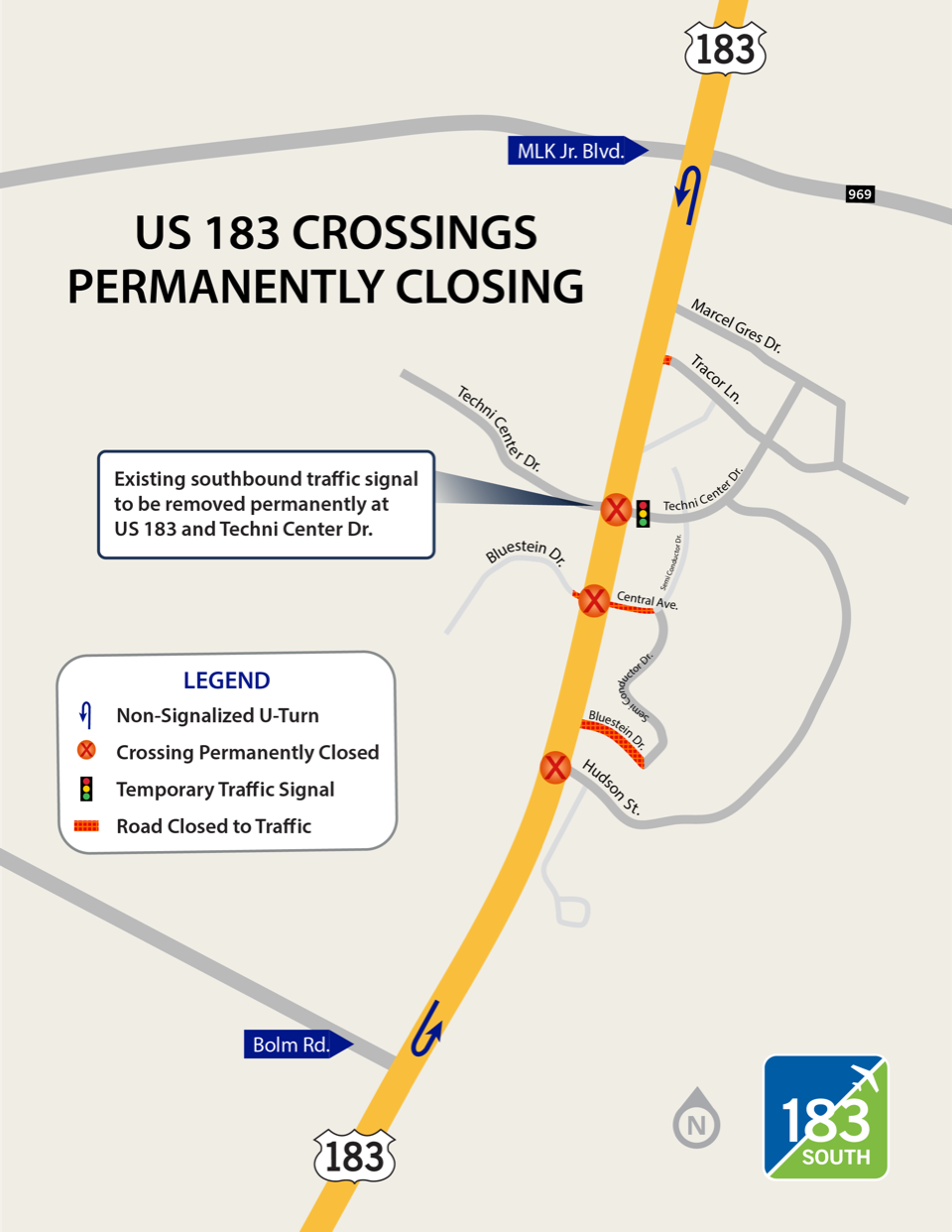 TechniCenter Crossing Closure Map