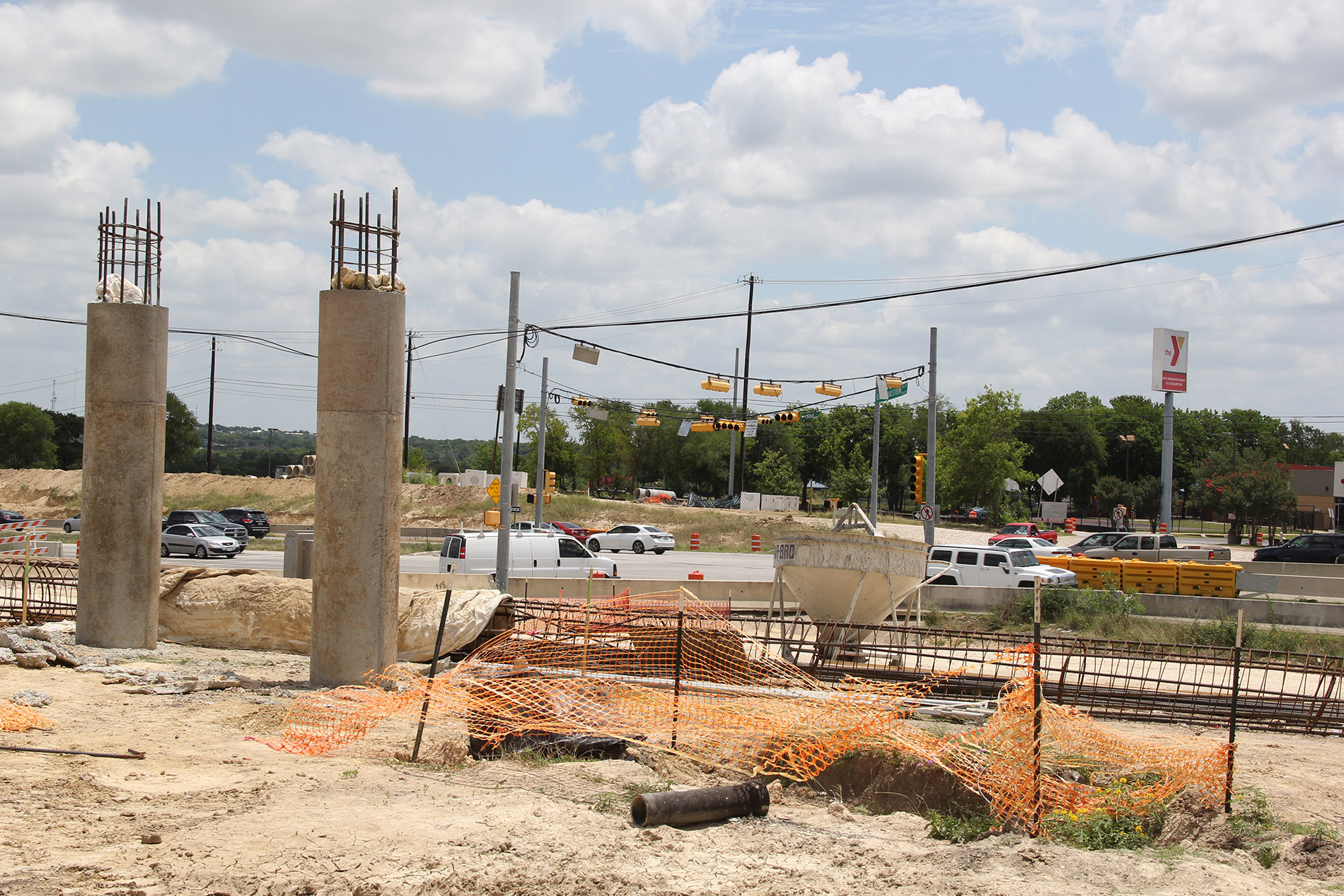 Columns for New Pedestrian Bridge to East Communities YMCA at 51st Street