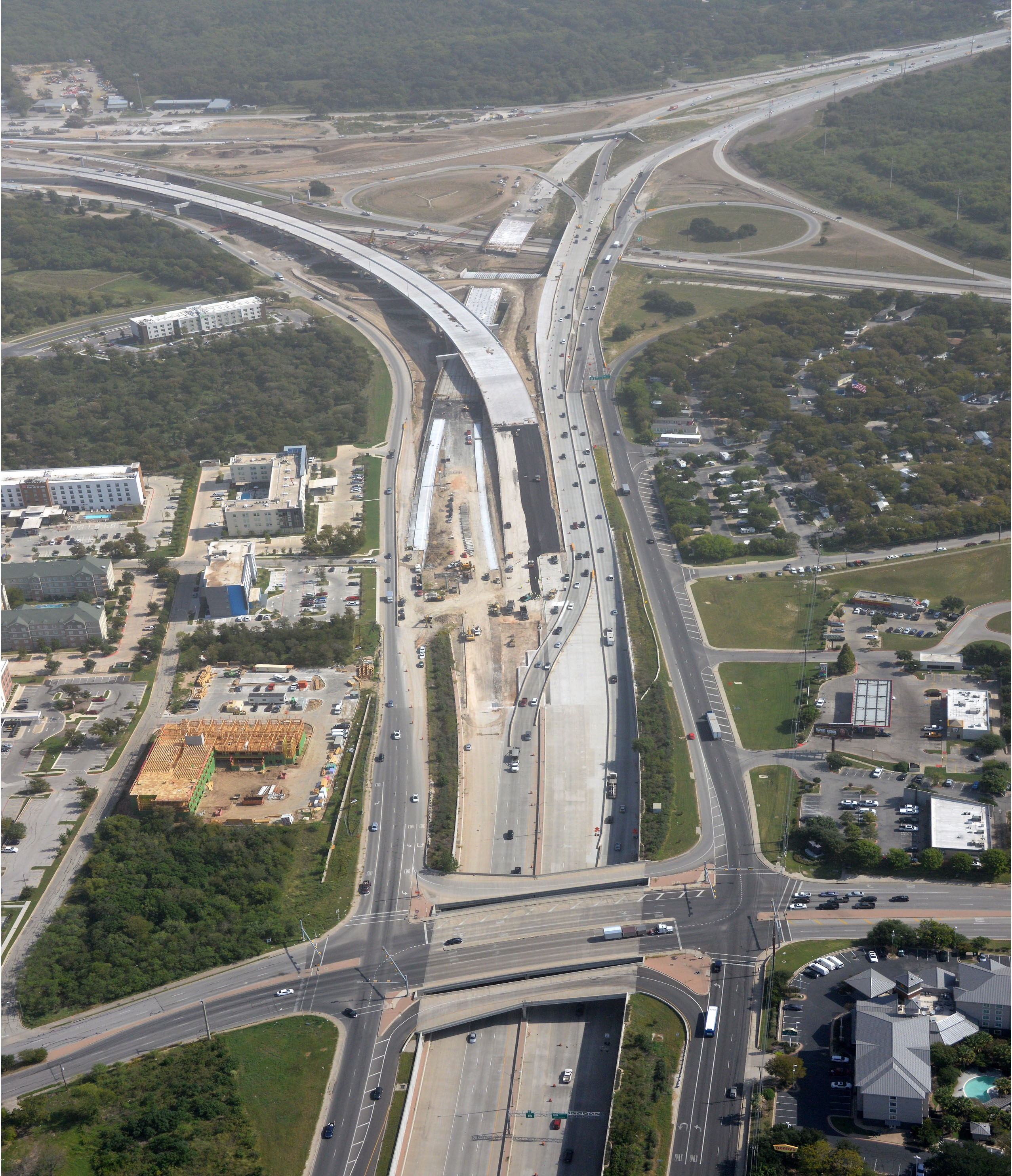 Aerial View of SH 71 and US 183 - Oct. 2020