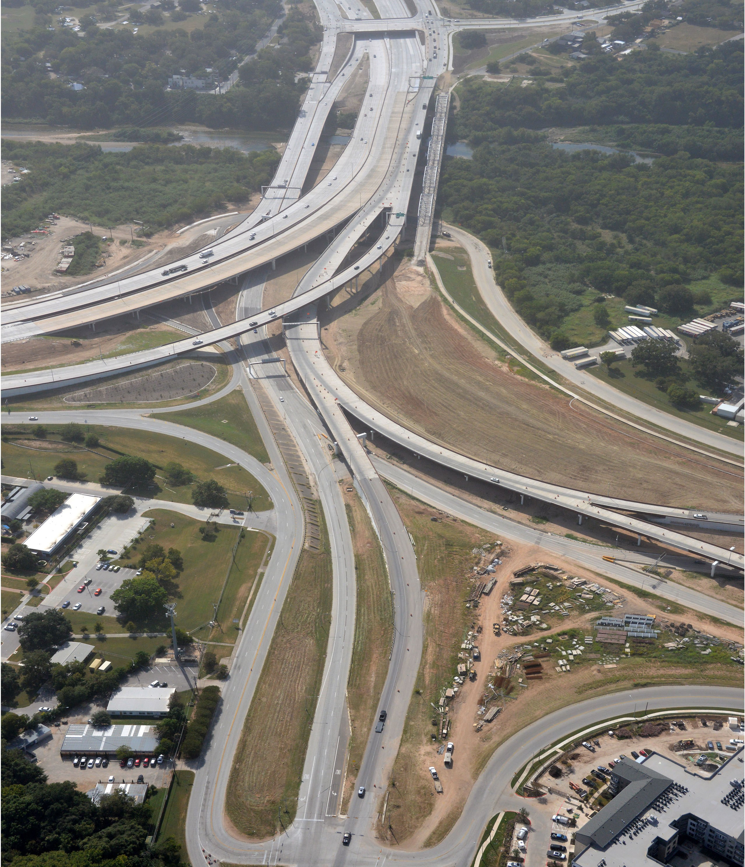 Aerial view of the Airport Blvd interchange - Oct. 2020
