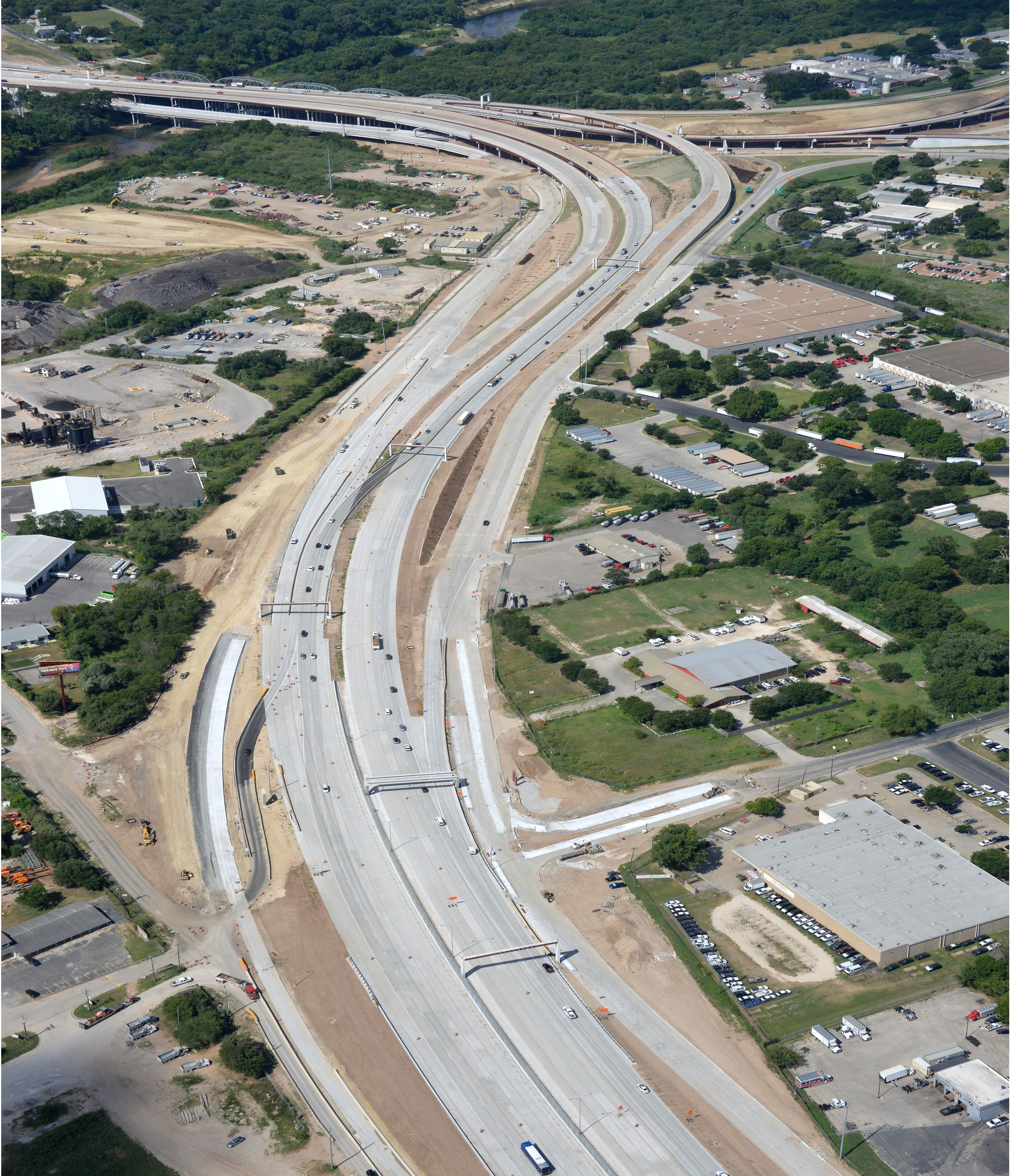 Aerial View of Bolm Road August 2020