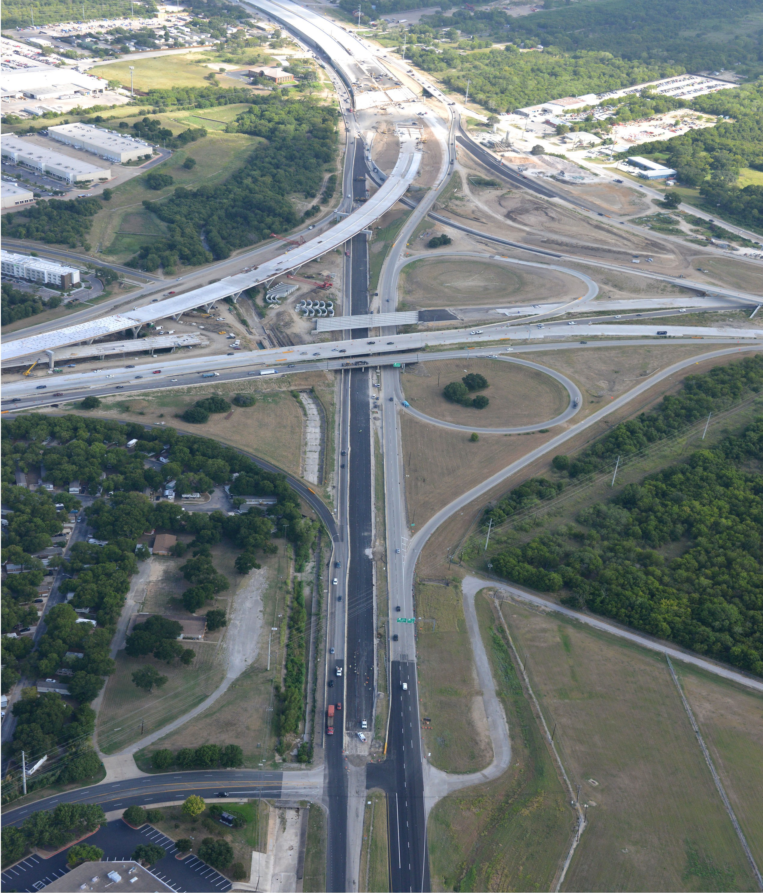 Aerial View of SH 71 and US 183- August 2020