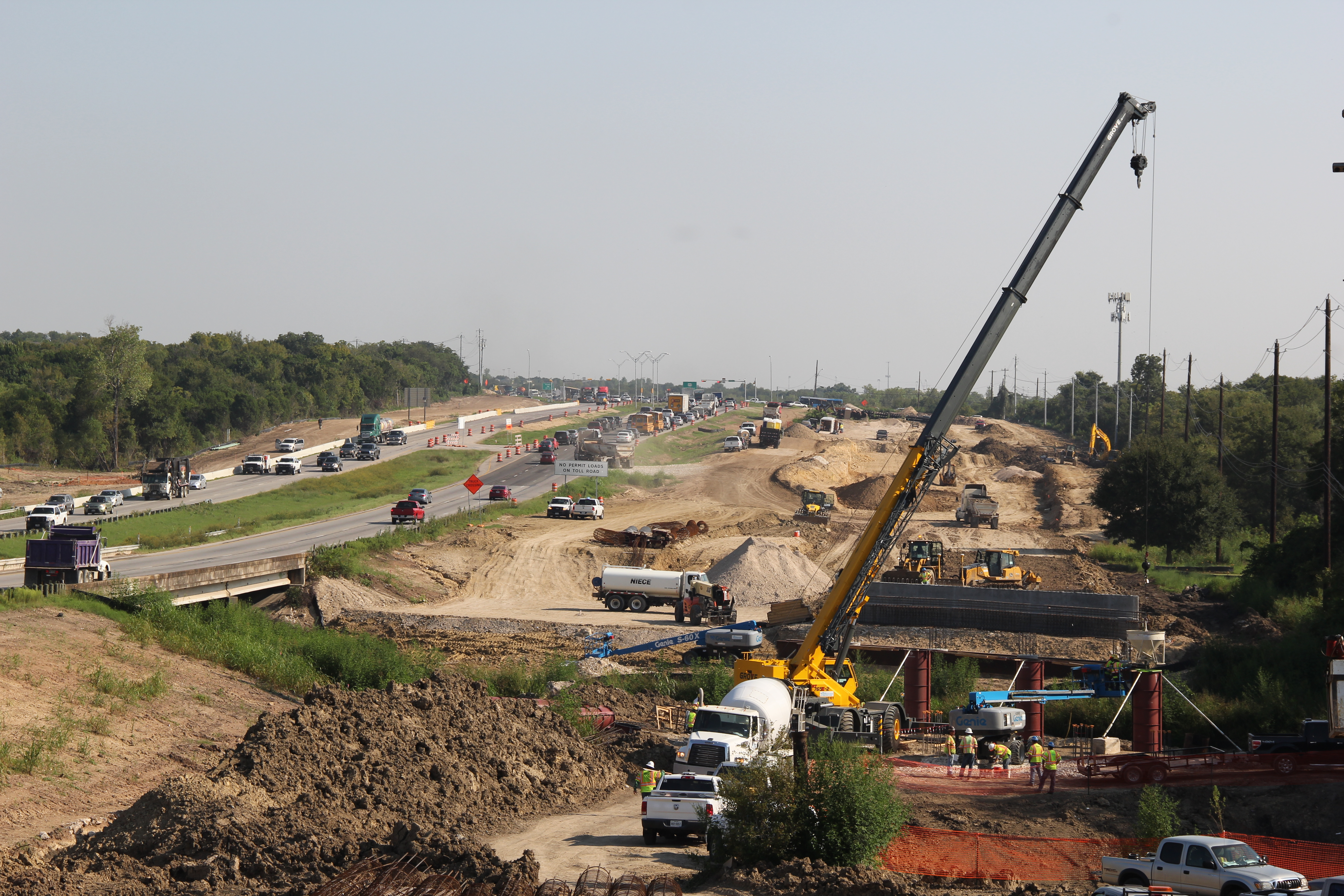 Northbound Bridge Construction Over Little Walnut Creek