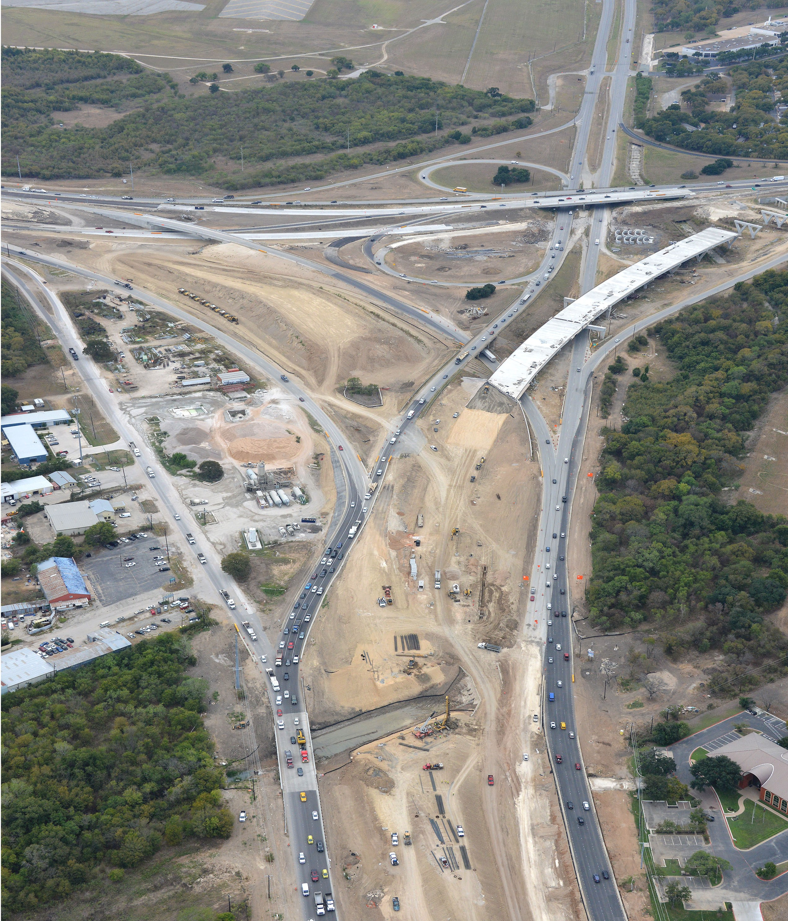 Aerial View of SH 71 and US 183